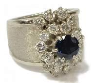 LADIES 14KT WHITE GOLD DIAMOND CLUSTER RING