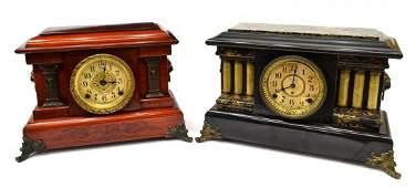 (2) SETH THOMAS ADAMANTINE SHELF CLOCKS