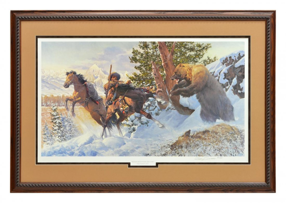 GARY CARTER, WESTERN LIMITED EDITION PRINT - 2