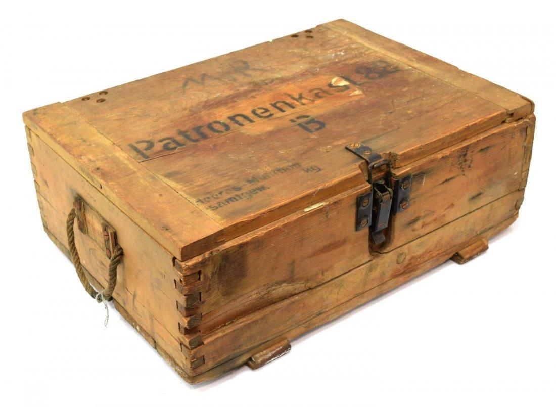 German Wwii Wood Ammunition Box