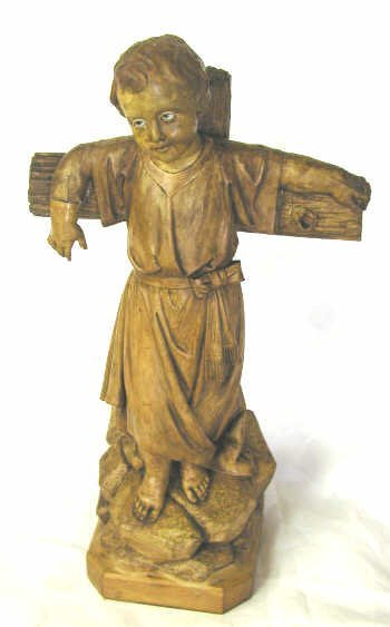 4: ANTIQUE RELIGIOUS STATUE CHRIST CHILD