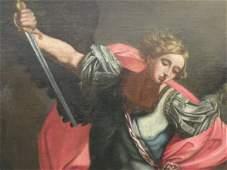 91: ANTIQUE RELIGIOUS PAINTING 18th CENTURY HUGE
