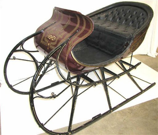 252 Antique Horse Drawn Sleigh Albany Cutter Sled