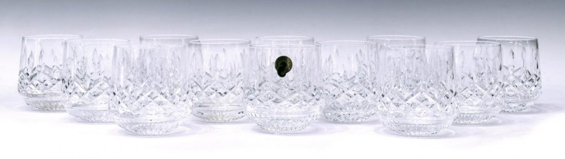(12) WATERFORD CRYSTAL 'LISMORE' ROLY POLY GLASSES