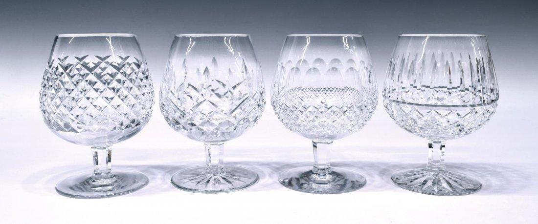 (4) WATERFORD CUT CRYSTAL BRANDY GLASSES GROUP