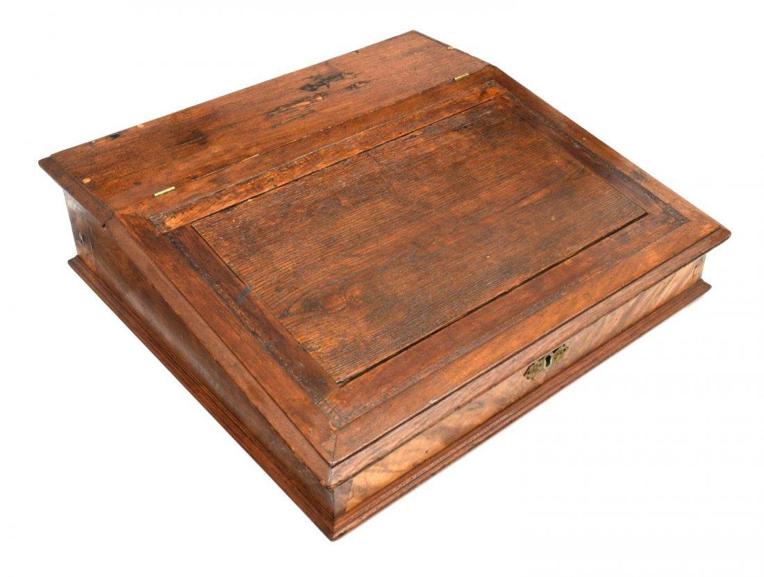 GEORGE CROOME MAHOGANY TABLE TOP DESK, 19TH C