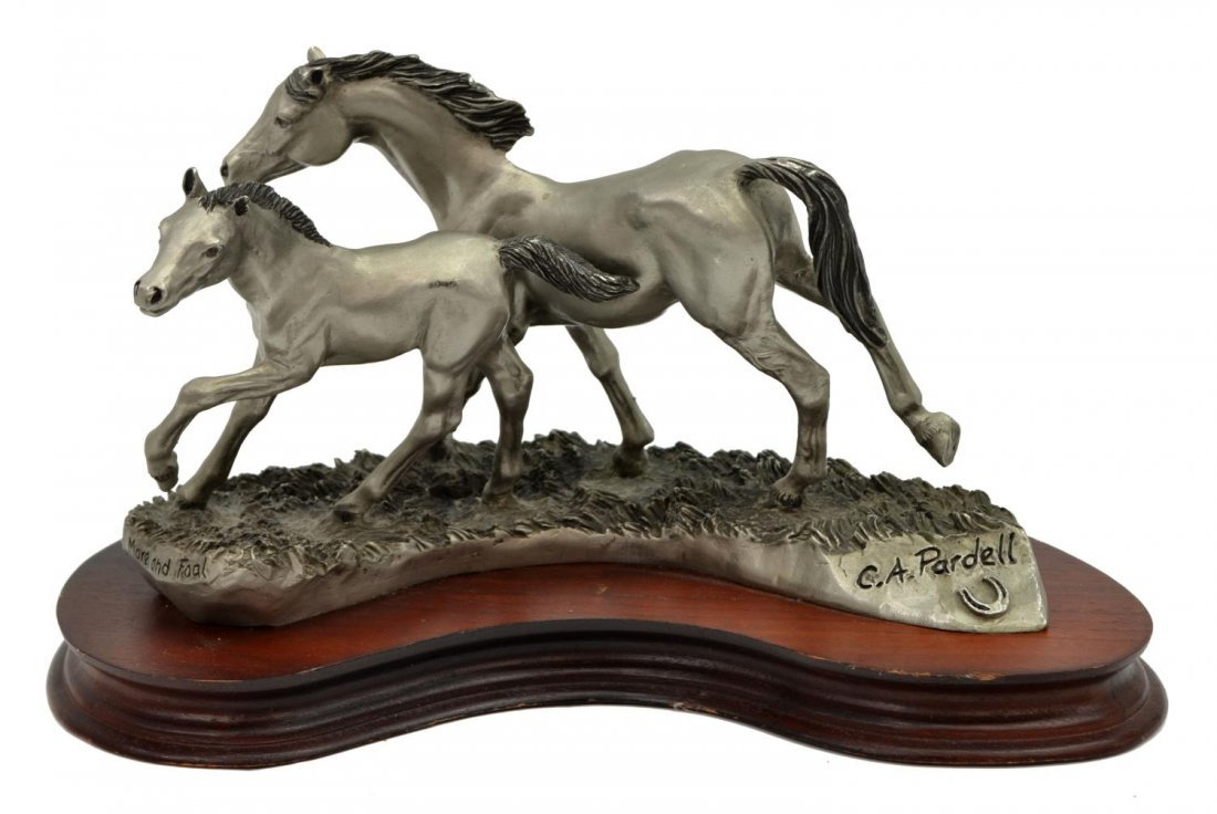 C.A. PARDELL LIMITED PEWTER SCULPTURE, ARABIANS