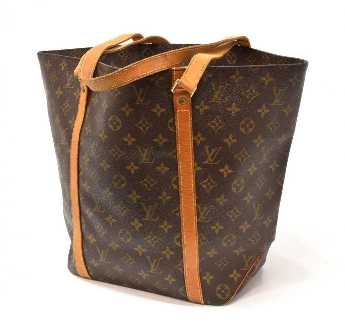 LOUIS VUITTON 'SHOPPING' MONOGRAM CANVAS TOTE BAG