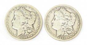 (2) U.S. 1890 CARSON CITY SILVER DOLLAR