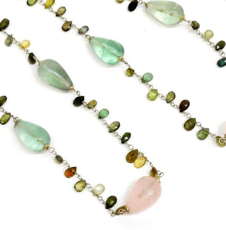 JORGE REVILLA SEMI-PRECIOUS & STERLING NECKLACE