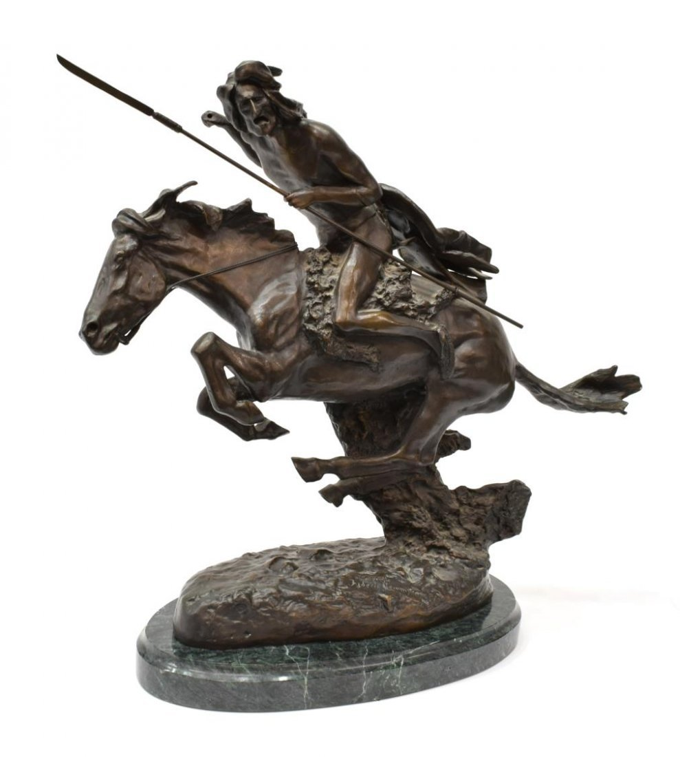 """BRONZE """"THE CHEYENNE"""" AFTER FREDERIC REMINGTON 20"""""""