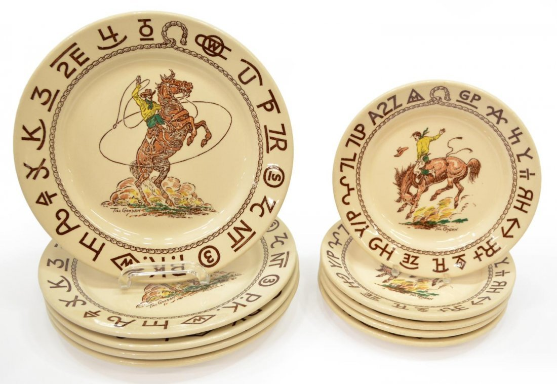 (10) TILL GOODAN FOR WALLACE CHINA 'RODEO' PLATES