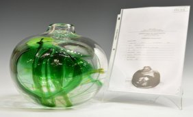 MOSER ART GLASS VASE, JIRI SUHAJEK, MUSEUM SURVEY