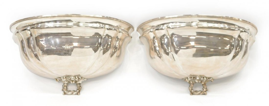 (2) FRENCH SILVERPLATE WALL SCONCES, 19TH C.