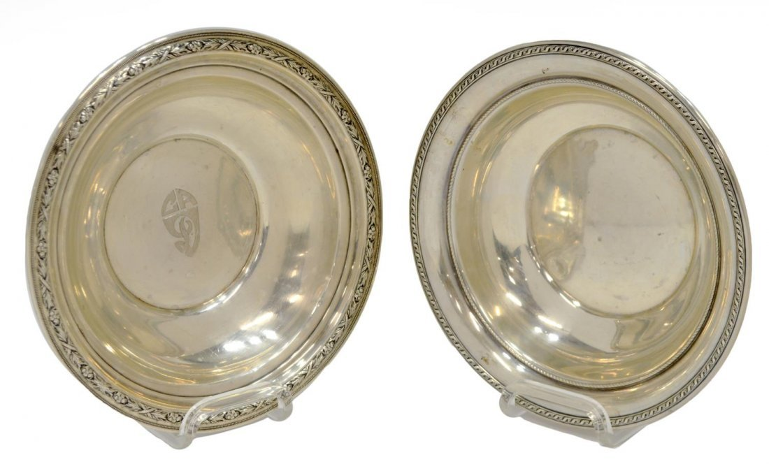 (2) WALLACE & GORHAM STERLING SILVER SERVING BOWLS