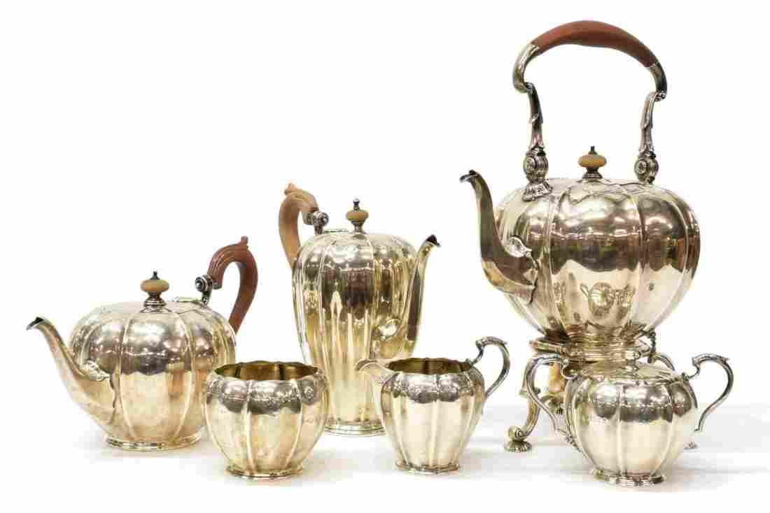 (6) ENGLISH STERLING SILVER TEA & COFFEE SERVICE