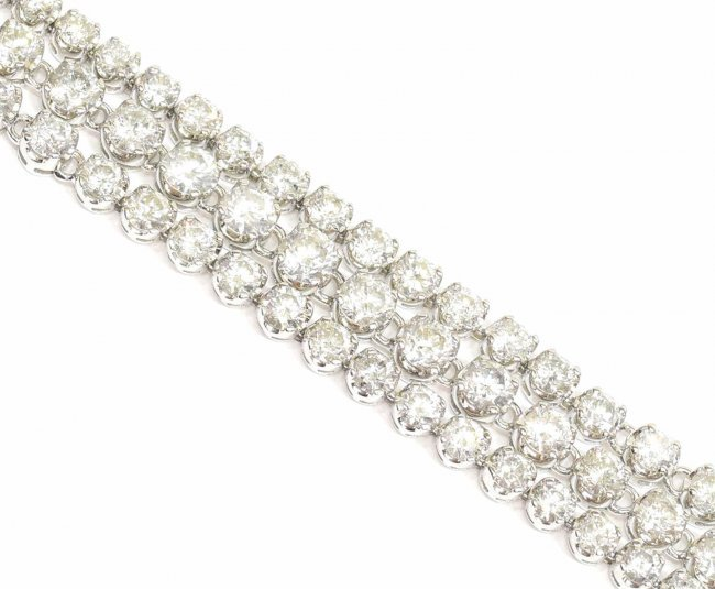 LADIES 14KT GOLD DIAMOND TENNIS NECKLACE 16CTTW