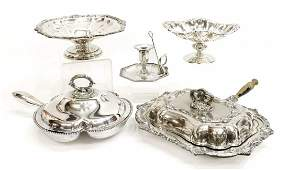7 COLLECTION OF SILVERPLATE SERVICEWARE