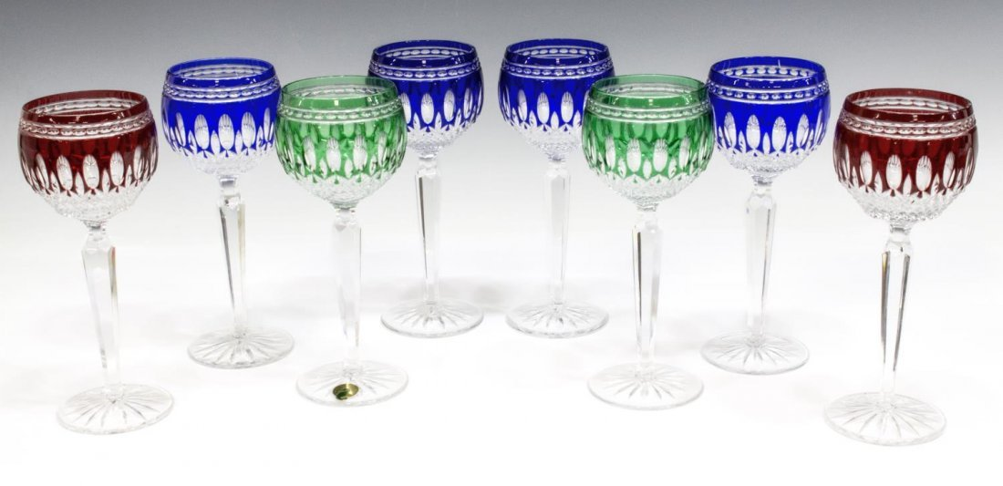 (8) WATERFORD CUT CRYSTAL CLARENDON GOBLETS