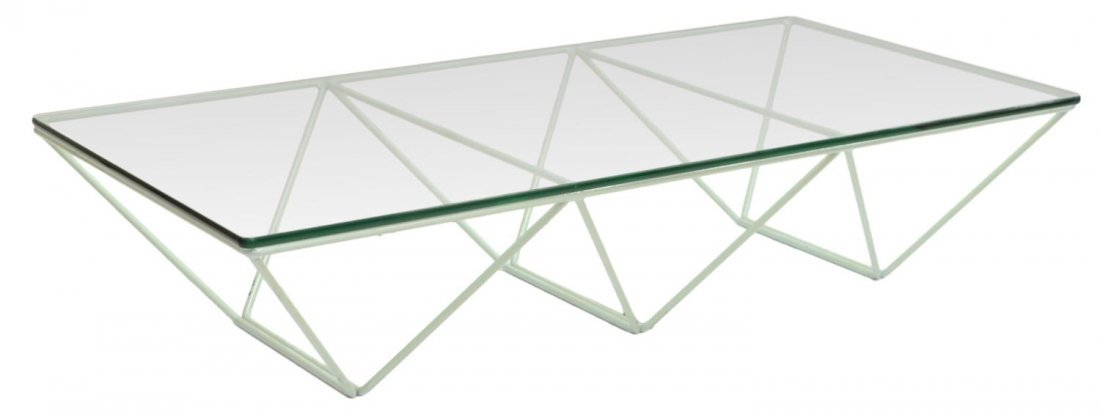 ITALIAN DESIGN 'ALANDA' GLASS & IRON COFFEE TABLE - 2