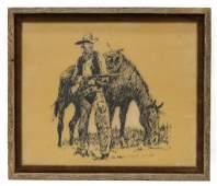 (3) JACK WHITE (TEXAS, B. 1933), COWBOYS & HORSES