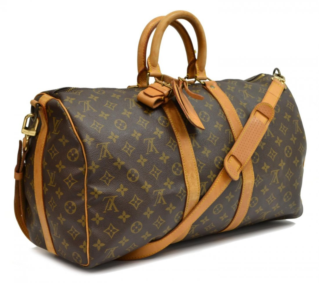 LOUIS VUITTON 'KEEPALL 45' MONOGRAM DUFFLE W/STRAP