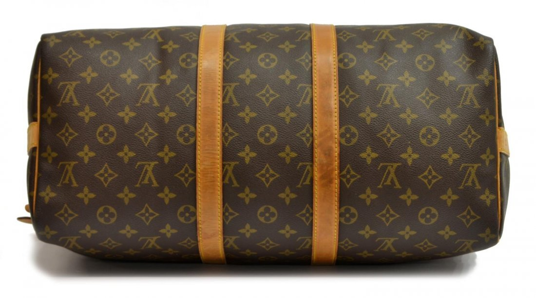 LOUIS VUITTON 'KEEPALL 45' MONOGRAM DUFFLE W/STRAP - 3