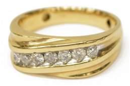 GENTS ESTATE 14KT YELLOW GOLD  DIAMOND RING