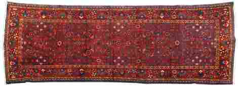HAND TIED PERSIAN WOOL HAMADAN RUG 97 X 37