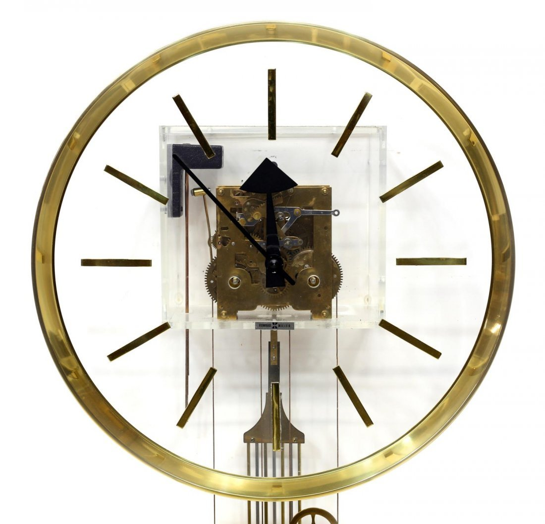 HOWARD MILLER GEORGE NELSON 2 WEIGHT MODERN CLOCK - 3