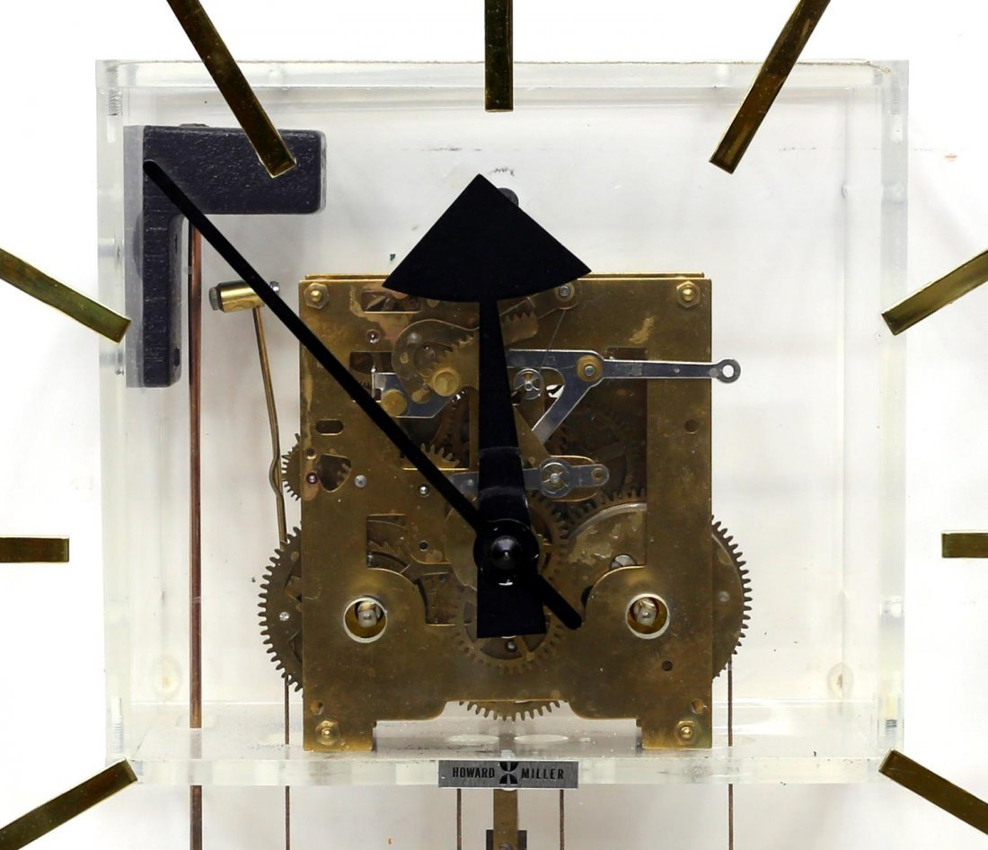 HOWARD MILLER GEORGE NELSON 2 WEIGHT MODERN CLOCK - 4
