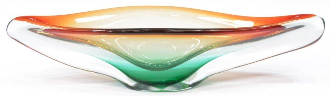 ITALIAN MURANO ART GLASS CENTERPIECE TABLE BOWL