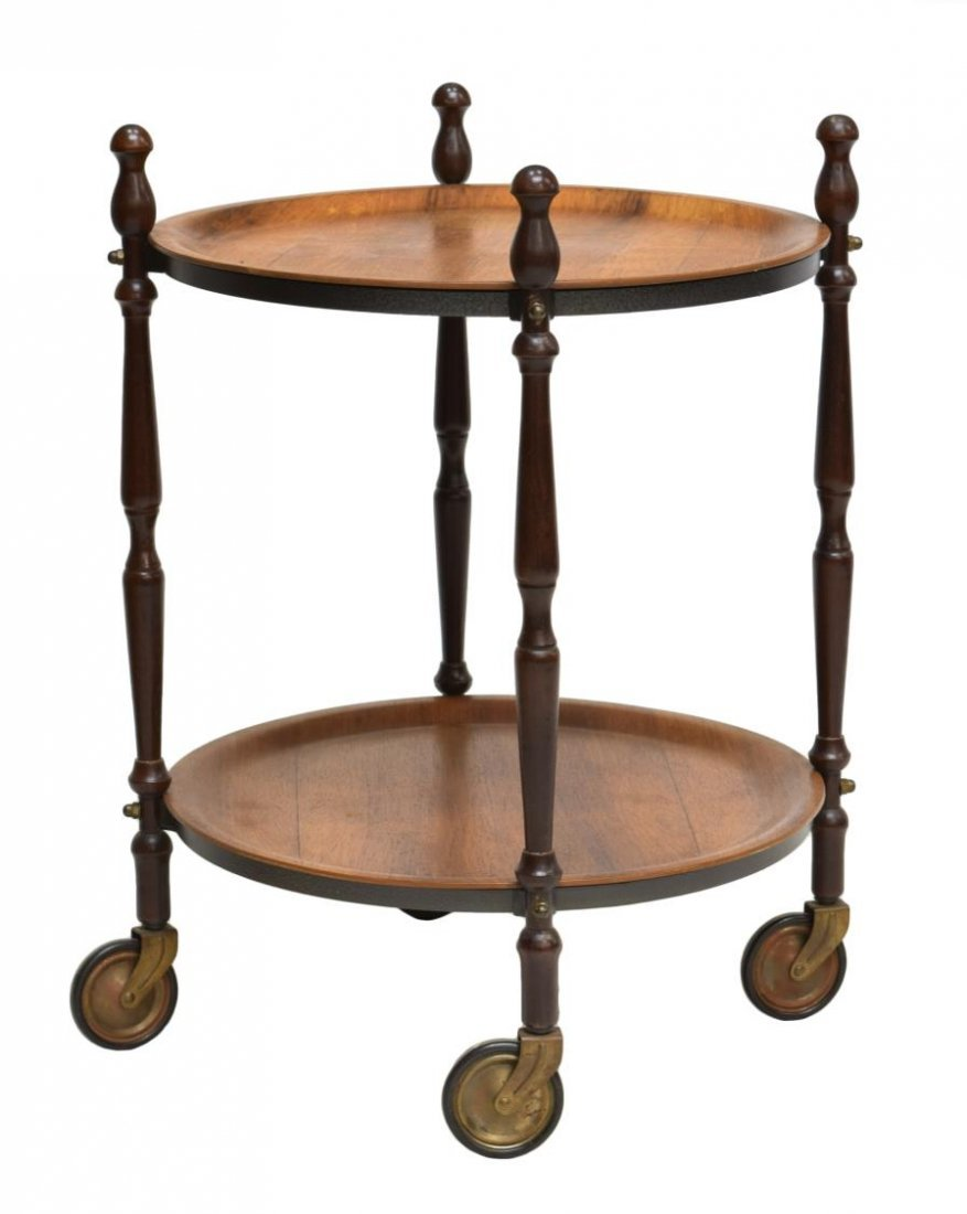 DANISH MID-CENTURY MODRN CIRCULAR OCCASIONAL TABLE