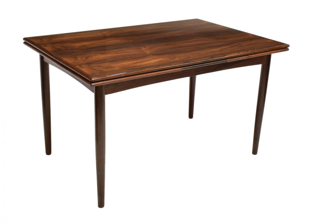 DANISH MID-CENTURY MODERN DRAW LEAF DINING TABLE