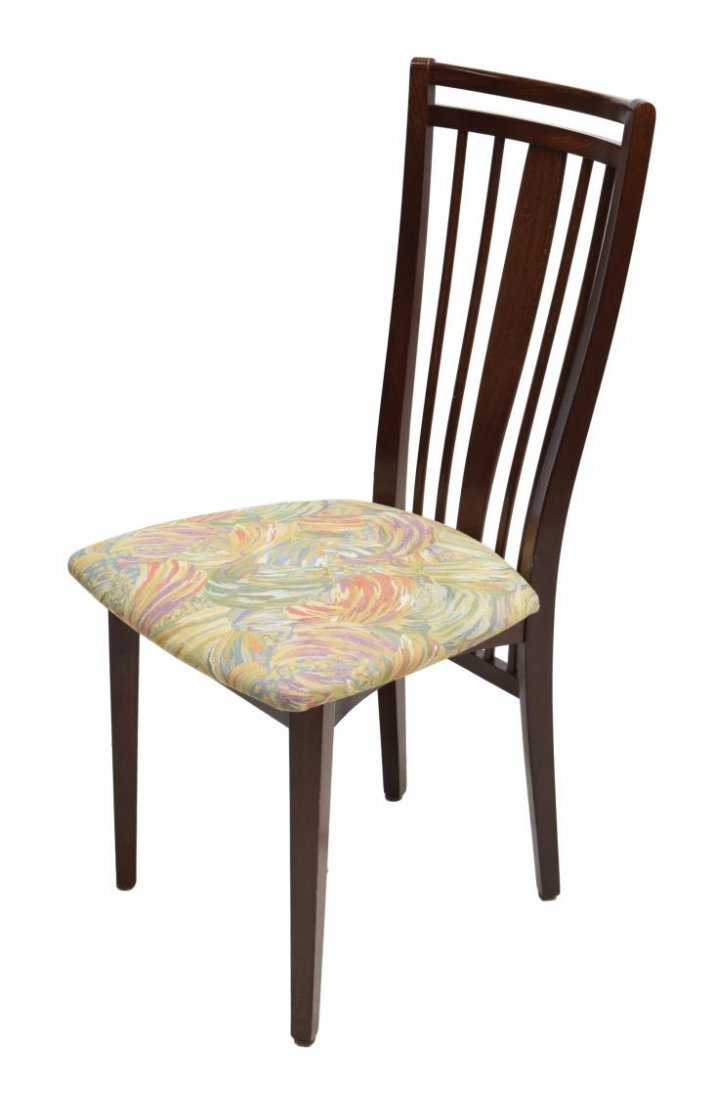 4) DANISH MODERN DESIGN SPINDLE BACK DINING CHAIRS - 2