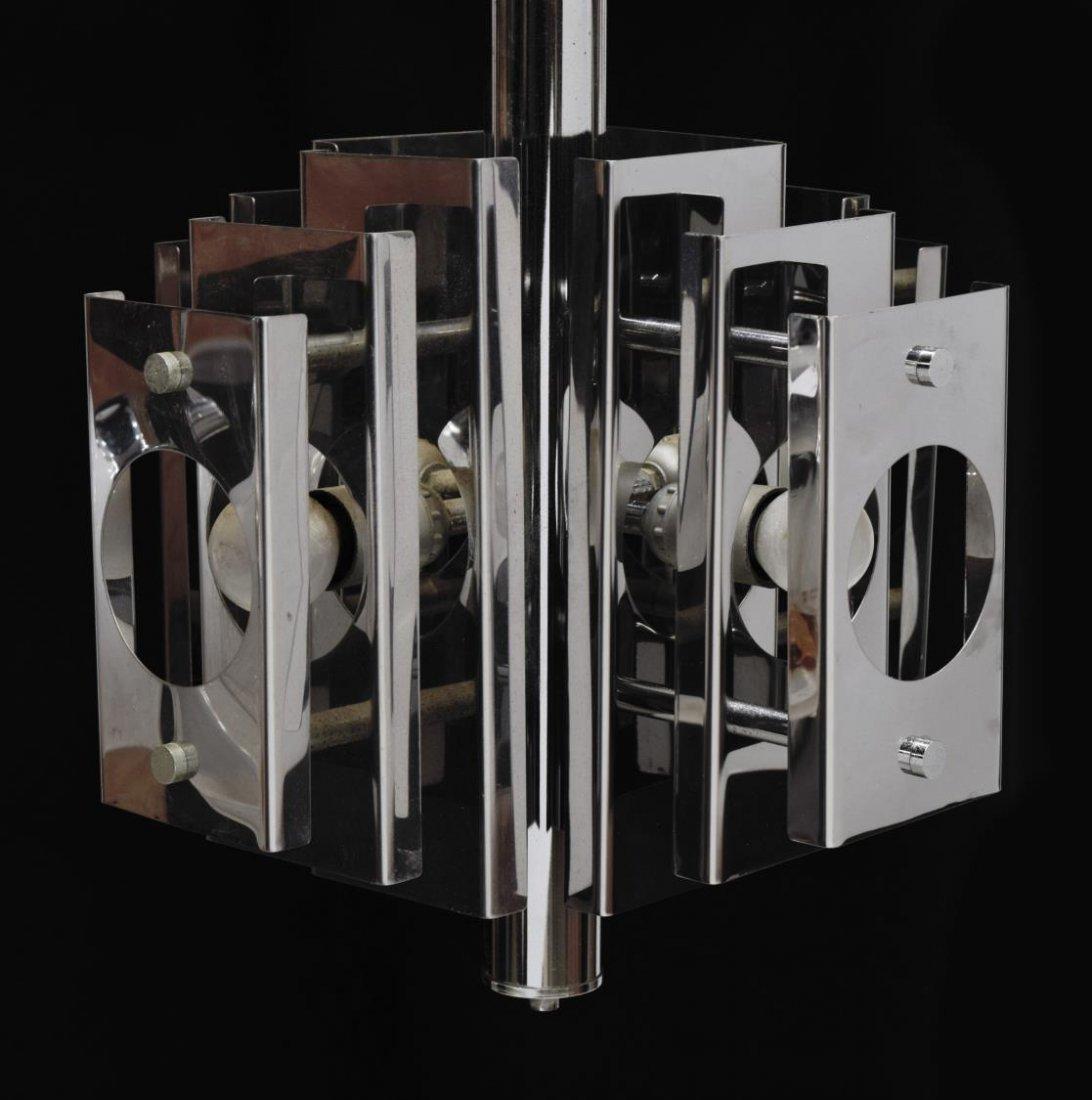 ITALIAN DESIGN STEEL 4-LIGHT CHANDELIER