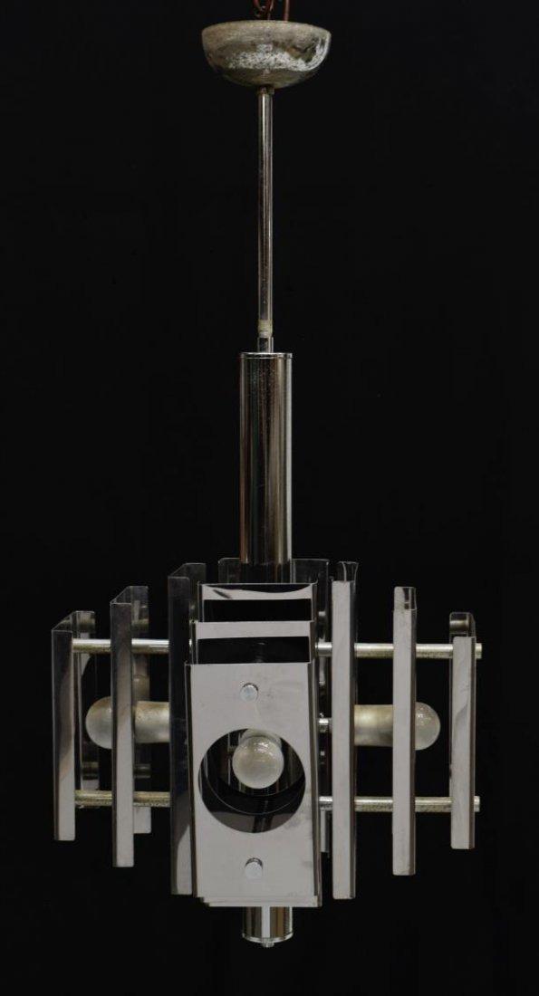 ITALIAN DESIGN STEEL 4-LIGHT CHANDELIER - 2
