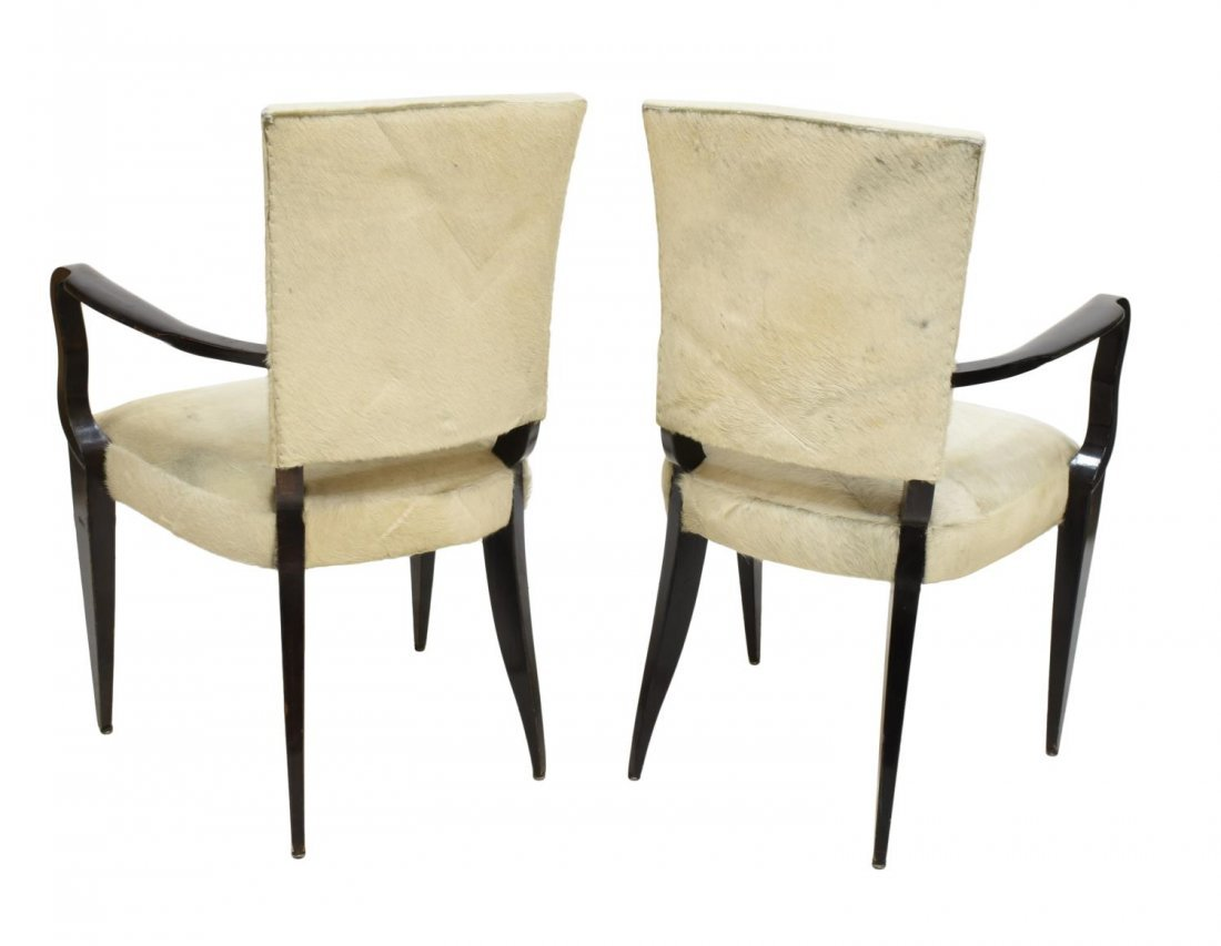 (2) FRENCH MID-CENTURY MODERN COWHIDE CHAIRS - 2