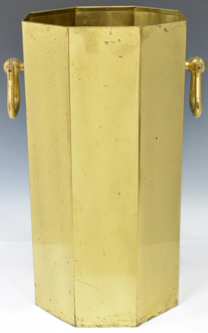 (2) MODERN PLASTIC & GILT METAL UMBRELLA STANDS - 2