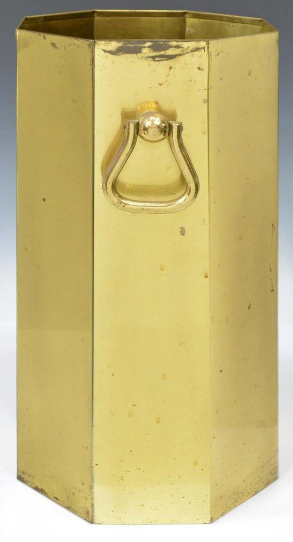 (2) MODERN PLASTIC & GILT METAL UMBRELLA STANDS - 3