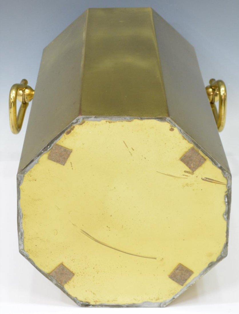 (2) MODERN PLASTIC & GILT METAL UMBRELLA STANDS - 4