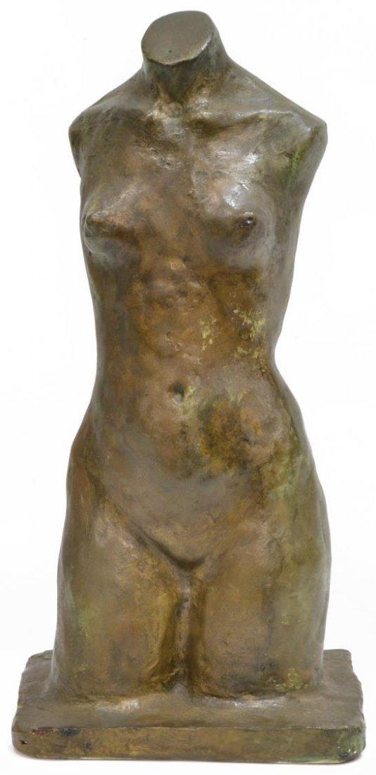 MODERN PLASTER FEMALE NUDE TORSO, JG 1968 - 2