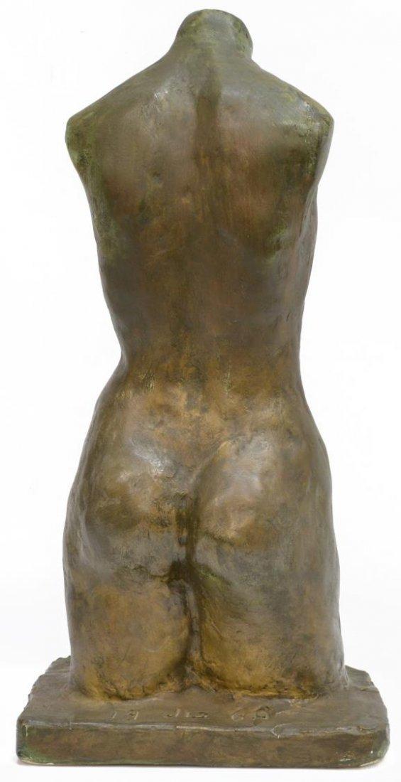 MODERN PLASTER FEMALE NUDE TORSO, JG 1968 - 3