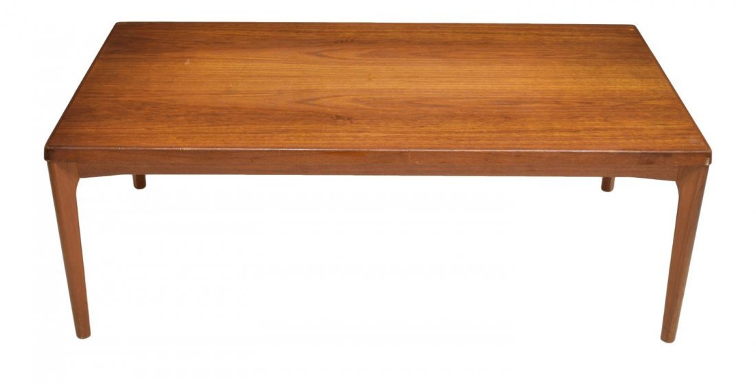 DANISH MID-CENTURY MODERN TEAK COFFEE TABLE, 1960 - 2