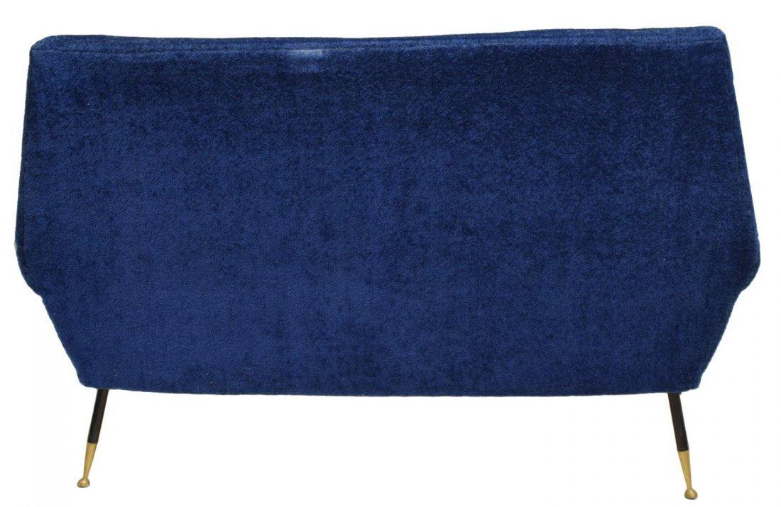 ITALIAN MID-CENTURY MODERN BLUE TWO SEAT SOFA 1950 - 3