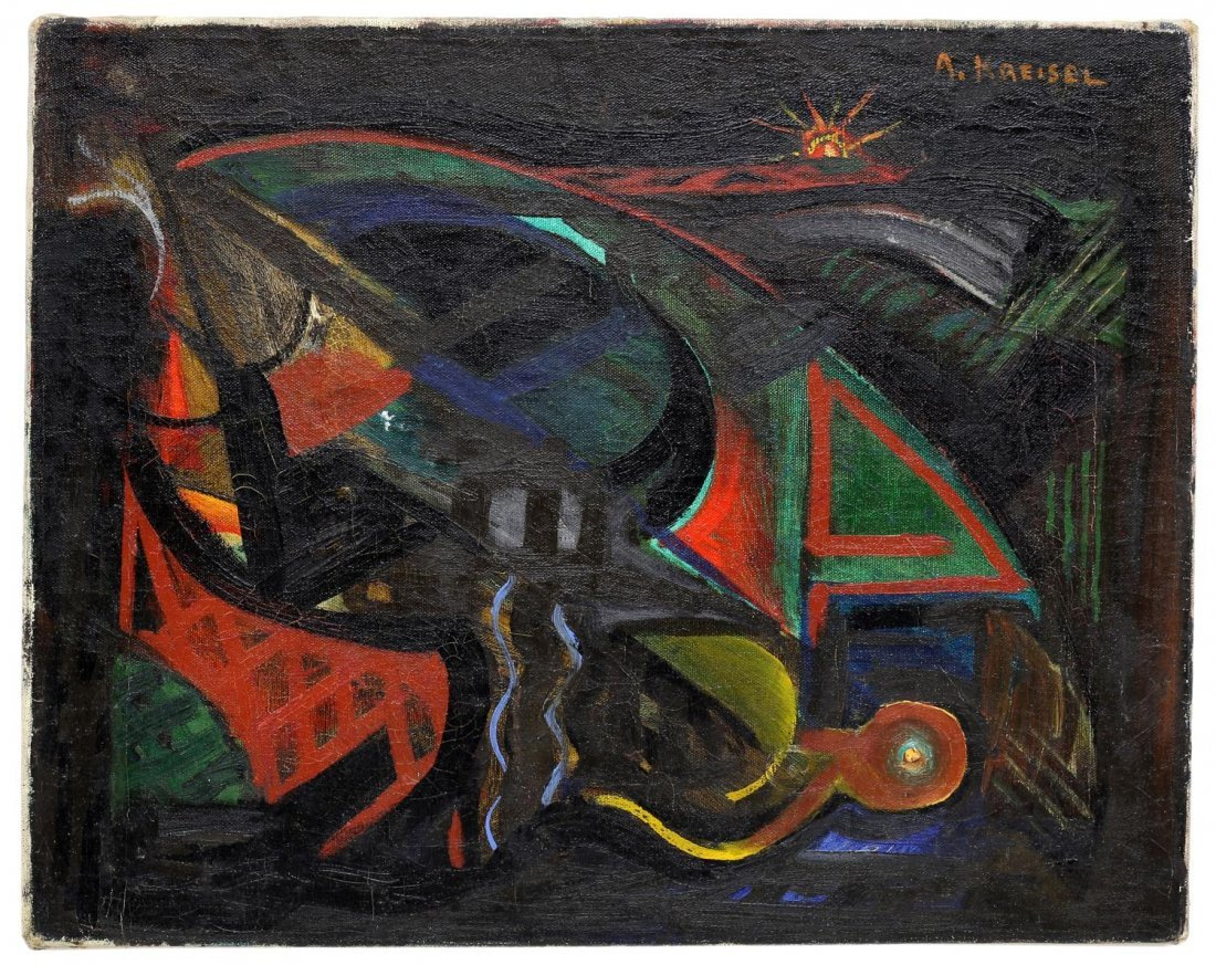 ALEXANDER KREISEL (1901-1953) ABSTRACT PAINTING