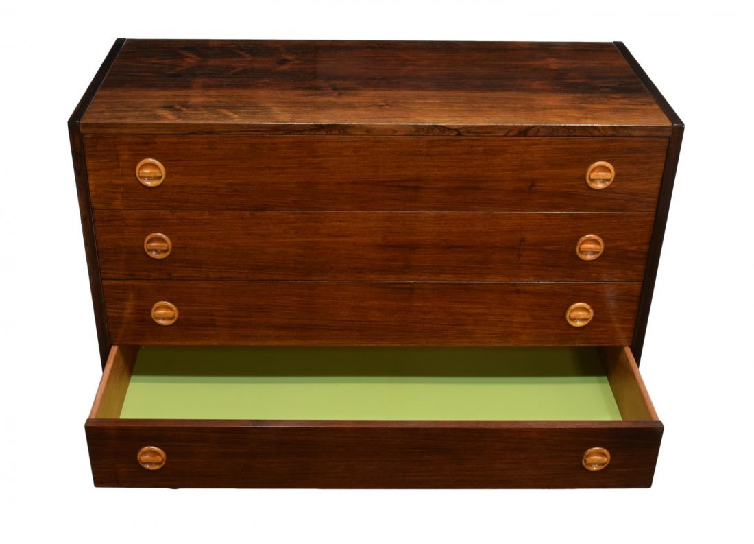 DANISH MID-CENTURY MODERN ROSEWOOD CHEST - 3