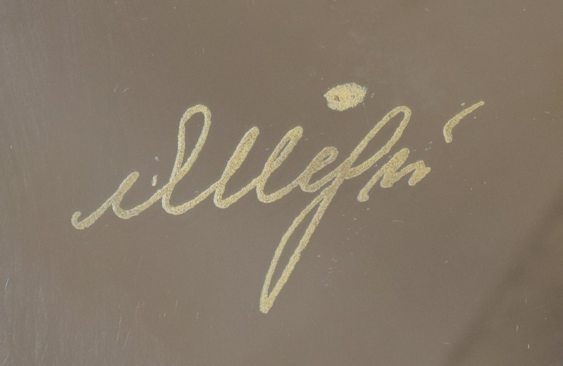 ITALIAN DESIGN GILT METAL/GLASS COFFEE TABLE 1970 - 3