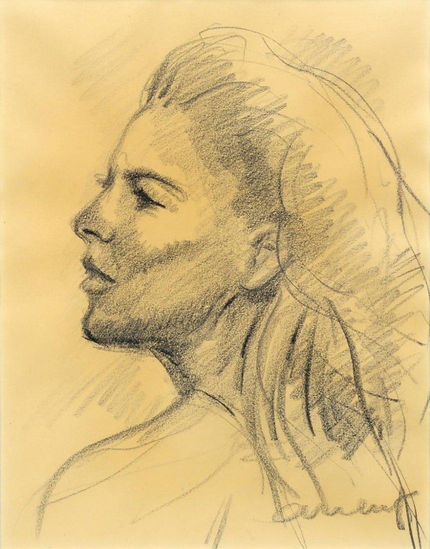 CHARLES UMLAUF(1911-1994)CHARCOAL PORTRAIT, A LADY - 2
