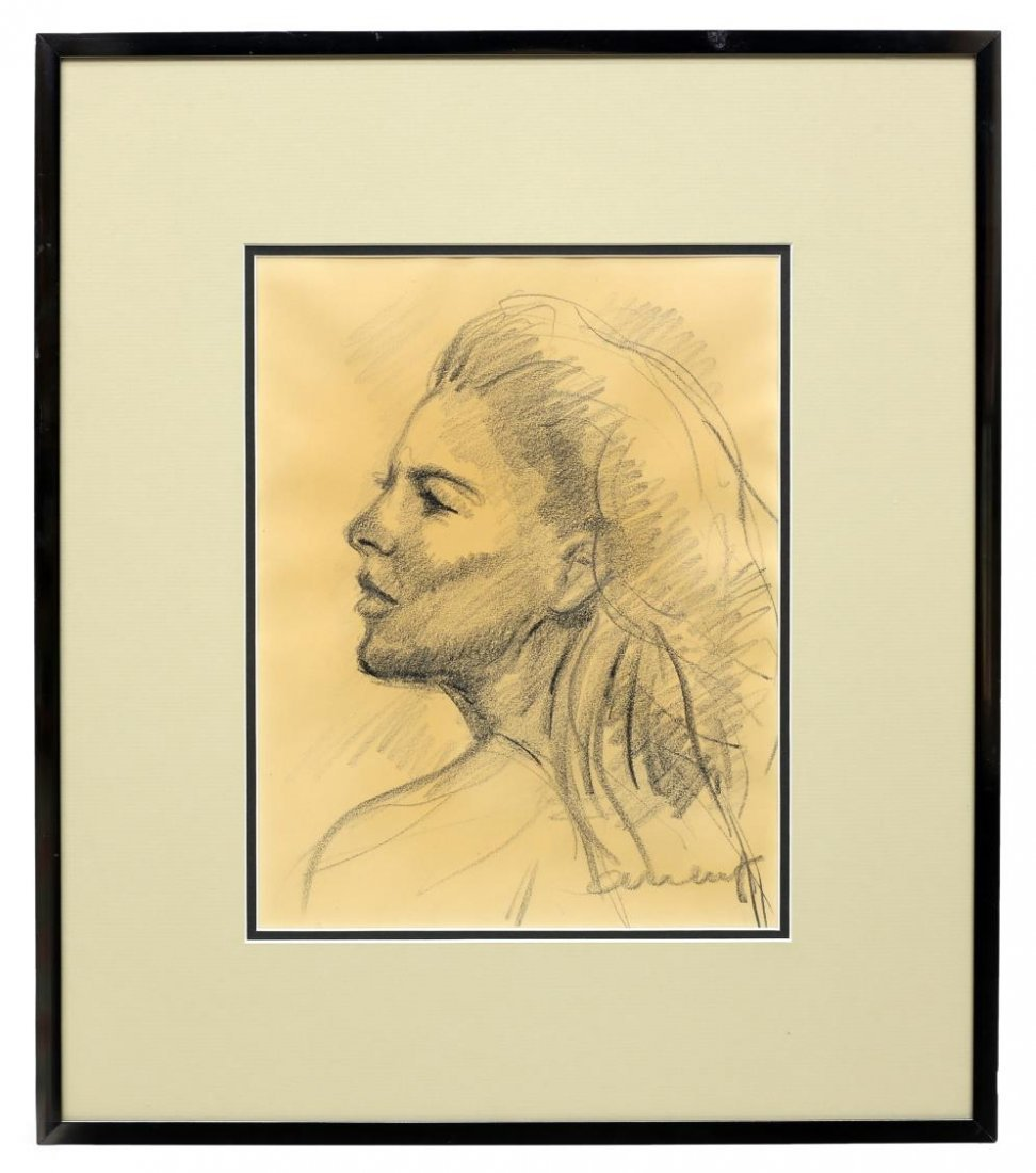 CHARLES UMLAUF(1911-1994)CHARCOAL PORTRAIT, A LADY - 3